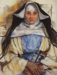 Zinaida Serebriakova Russian 1884-1967 A Nun of Cassis 1928