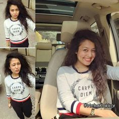 😍 Bollywood Actors, Bollywood Fashion, Neha Kakkar Dresses, Jacqueline Fernandez, Queen, Dimples, Photo Sessions, T Shirts For Women, Celebrities
