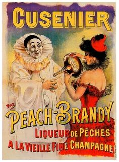 1900s-French-Cusenier-Peach-Brandy-Food-Wine-Advertisement-Art-Poster-Print
