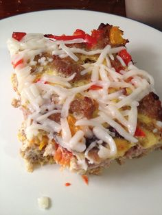 Made with Turkey sausage and has NO CARBS! I made this for breakfast for my family and it taste amazing!