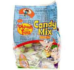 Phineas and Ferb Candy Assortment: 60-Piece Bag