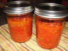 Homemade Spaghetti Sauce with Fresh Garden tomatoes!