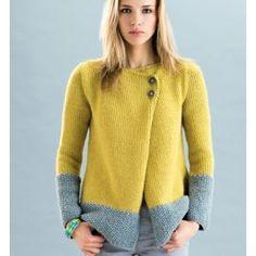 Ravelry: Veste Phil Looping Femme pattern by Phildar France Cardigan Pattern, Jacket Pattern, Cardigan Design, Knitting Kits, Hand Knitting, Knitting Sweaters, Knitting Ideas, Cashmere Jacket, Chunky Knit Cardigan