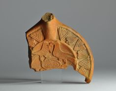 North African red slip oil lamp fragment with bird 2
