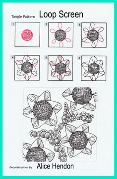 My Patterns - Alice Hendon Doodle Patterns, Zentangle Patterns, Flower Patterns, Zentangle Drawings, Doodles Zentangles, Zen Doodle, Doodle Art, Mandala Art, Calligraphy Drawing