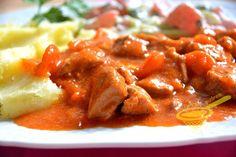 z cukrem pudrem: pomidorowy gulasz z szynki z marchewką