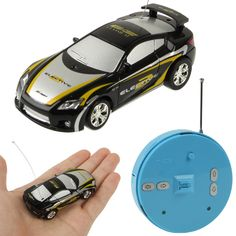 1:64 Scale Mini Radio Control RC Racing Car with Light, Frequency: 49MHz, Size: 69 x 32 x 20mm (2018-7)