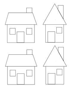 Applique Patterns, Applique Quilts, Quilt Patterns, Diy Christmas Village, Christmas Diy, Felt Crafts, Paper Crafts, House Template, Shot Glass Set