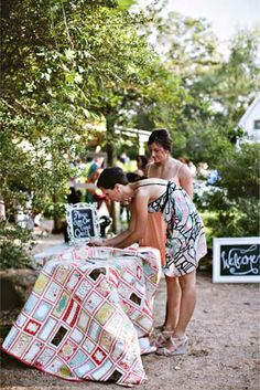 Wedding Guest Quilt- interesting angle on a guest book