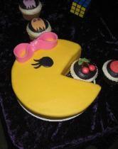 Mrs. Pacman cake Man Birthday, Boy Birthday Parties, Pac Man Cake, Cupcake Cakes, Cupcake Ideas, Cupcakes, 80s Party, Cake Boss, Occasion Cakes