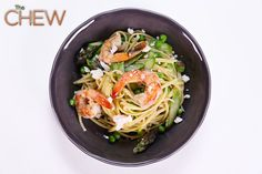 Michael Symon's Shrimp and Spring Vegetable Pasta #TheChew