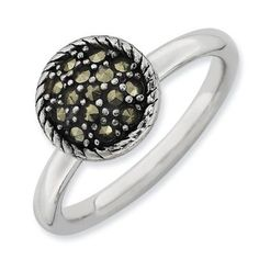 Stackable Expressions Marcasite Sterling Silver Ring, Women's, Size: 8