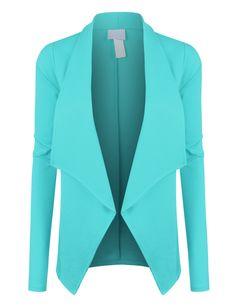 LE3NO Womens Open Front Long Sleeve Tuxedo Blazer Jacket