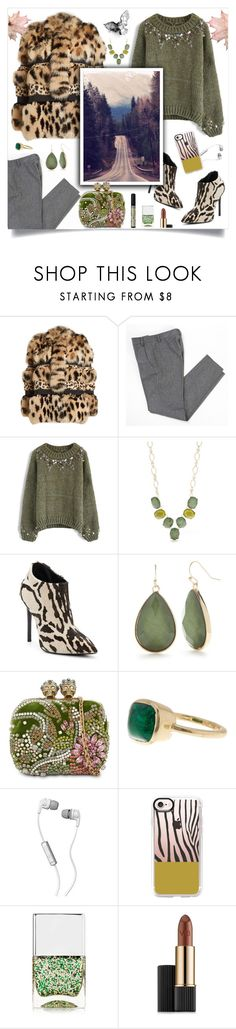 """""""Animal Print RoadTrip"""" by linmari ❤ liked on Polyvore featuring Roberto Cavalli, A.P.C., Chicwish, New Directions, Bamford, Giuseppe Zanotti, Alexander McQueen, Cole Haan, Skullcandy and Casetify"""