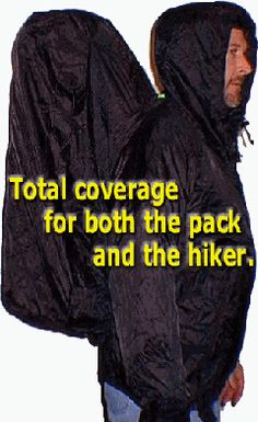 The Packa  -Full Coverage Backpacking Rain Parka  	 The Best Garment For Backpacking in Rainy or Cold Weather!