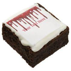 #Falln Blood Drips White Chocolate Brownie - #halloween #brownies #sweets #goodies