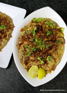 Hyderabadi Haleem Recipe is an authentic and traditional Ramadan special delicacy served as an evening meal during iftar after fasting for the whole day. Veg Recipes, Indian Food Recipes, Chicken Recipes, Cooking Recipes, Healthy Recipes, Ethnic Recipes, Recipies, Cooking Tips, Snack Recipes