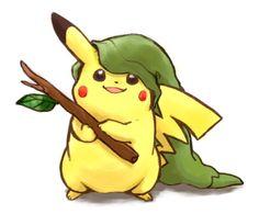 PikâLinl - Pikachû x Link! #Pokemon #Zelda