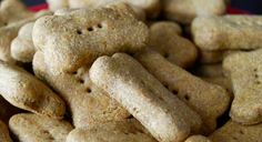 There's something about the peanut butter, pumpkin, and coconut oil combo that my dogs absolutely love. Click for the easy dog biscuit recipe!