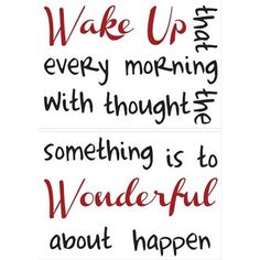 Wake Up Wall Quote - Home D�cor Line Wall Decals