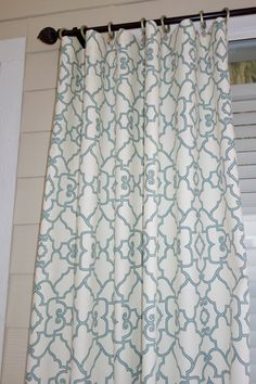 NEW Windsor Capri Blue Curtain Panels 50 x 96 by SewDivinebyAmanda, $160.00. I'm in love with her entire shop!