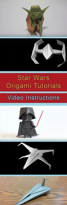 Star Wars Origami Tutorials Video Instructions #OrigamiLamp