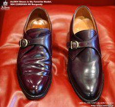 マイフェイバリットな靴達-オールデン954モンクストラップ・コードバン#8バーガンディー