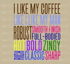 I Like my Coffee Like I Like My Man One : DOWNLOADABLE  FILE ONLY png. pdf. svg. dxf. Use files for screen printing, vinyl and more by Coffeetes on Etsy