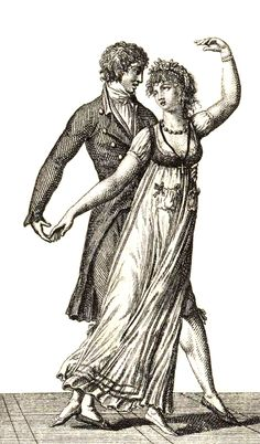 Regency Dance (1801). Jane Austen, Regency Dress, Regency Era, Historical Romance, Historical Clothing, Renaissance, Ballroom Dance Music, Dancing Drawings, Country Dance