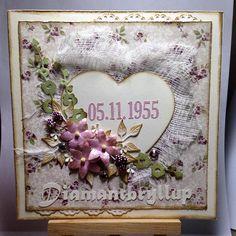 60 years wedding anniversary  #cardmaking #piondesign