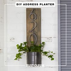 Refresh your front porch on a budget with these easy and fun DIY projects you can do when bored at home. Use Testors Paint Pens, Rust-Oleum Stops Rust Spray Paint and Universal Metallic Spray Paint to refresh faded patio furniture and decor, customize your address plaque, and add curb appeal to your home. #prideinthemaking Diy Home Crafts, Wood Crafts, Diy Home Decor, Cool Diy Projects, Home Projects, Metallic Spray Paint, Budget, Porch Signs, Porch Decorating