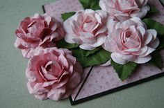 How to make a rose to cards~ instructions for pretty roses~