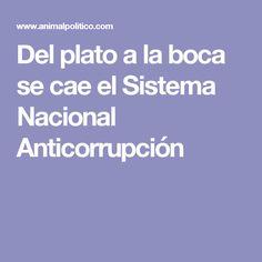 Del plato a la boca se cae el Sistema Nacional Anticorrupción