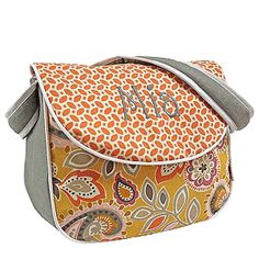 Known for long-lasting durability, hoohobbers messenger diaper bags are designed extra-tough with nylon lining which will not crack or tear, to handle the abuse that diaper bags invariably undergo, and in the flirty flowers yellow design collection it blooms into a strikingly festive, bright bag appropriate for boys and girls.