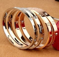 It has all the great characteristics of solid gold jewelry. Gold Filled jewelry is an economical alternative to solid gold. Quantity One Piece of Bracelet. Cheap Bracelets, Couple Bracelets, Love Bracelets, Crystal Bracelets, Fashion Bracelets, Bangle Bracelets, Fashion Jewelry, The Bangles, Cartier Love Bangle