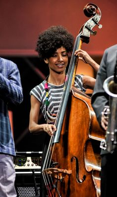 GRAMMY winner Esperanza Spalding gets lost in the moment during a performance at the 2014 International Jazz Day Global Concert on April 30 in Osaka, Japan