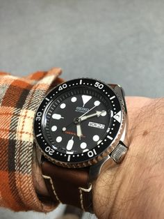 My new seiko skx007 with Hirsch liberty leather band