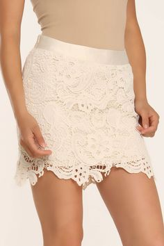 Andree Lace Skirt In Ivory - Also ordered this today, so jacked.