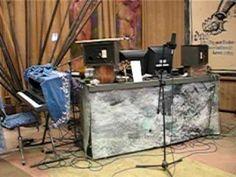Liz at work on music for Roadhouse of the Desert Moon.