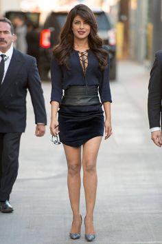 Priyanka Chopra arrives at Jimmy Kimmel Live in Los Angeles on Sept. Bollywood Actors, Bollywood Celebrities, Indian Celebrities, Beautiful Celebrities, Priyanka Chopra Hot, Quantico Priyanka Chopra, Deepika Padukone, Shraddha Kapoor, Ranbir Kapoor