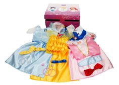 From the Manufacturer Your child will have hours of fun playing Disney Princess with the Royal Dress Up Trunk. This 21 piece set includes Belle, Cinderella, Sleeping Beauty and Snow White outfits with matching accessories. Girls Dress Up, Dress Up Outfits, Dress Up Costumes, Little Girl Dresses, Little Girls, Costume Ideas, Baby Girls, Toddler Girls, Disney Princess Dress Up