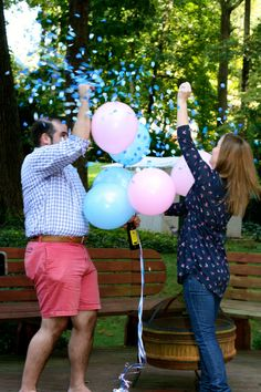 """Ready to ship. 1 Baby Gender reveal confetti balloon. 24"""" Black balloons with confetti. #craftshout"""