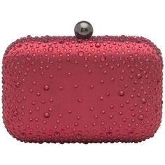 Gorgeous Olga Berg Red Scattered Jewel Clutch Bag  #red #clutch #bag #jewel #olgaberg