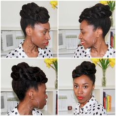 Easy to do #updo #naturalhairstyle Loved By NenoNatural! #naturalhair #naturalhairstyles #curlyhair #kinkyhair #nenonatural #vlogger #blogger #hairblogger