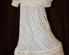 b4df81bbd Christening Gown / Blessing Dress / Christening Dress / Baptism Dress /  Confirmation / Crochet Treasured Heirloom / The Ella