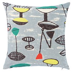 Buy Lucienne Day Flotilla Cushion, Grey from our Cushions range at John Lewis & Partners. Textile Fabrics, Textile Prints, Lucienne Day, Bed Throws, Vintage Textiles, Cushions On Sofa, Bean Bag, Cushion Covers, John Lewis