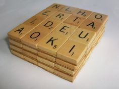 So cute for the Scrabble lover.  This site has a lot of ideas for Scrabble letter crafts.