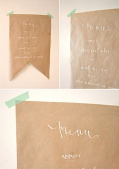 Brown paper banners