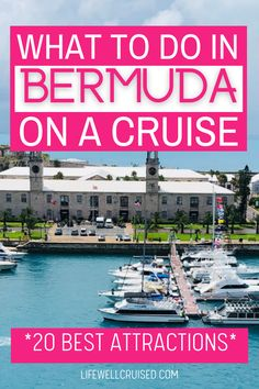 There's nothing like a Bermuda cruise! Find out all the great things there are to do when in Bermuda on a cruise vacation. Whether you are cruising to Bermuda for 1, 2, 3 or even 4 days, this list of best things to do will be helpful as you explore. Bahamas Cruise, Cruise Port, Cruise Travel, Caribbean Cruise, Cruise Vacation, Southern Caribbean, Western Caribbean, Cruise Excursions, Cruise Destinations