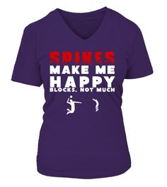 SPIKES MAKE ME HAPPY BLACK FRIDAY!!!   => Check out this shirt by clicking the image, have fun :) Please tag, repin & share with your friends who would love it. #badminton #badmintonshirt #badmintonquotes #hoodie #ideas #image #photo #shirt #tshirt #sweatshirt #tee #gift #perfectgift #birthday #Christmas